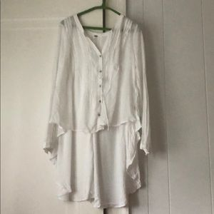 Free people white blouse, light weight